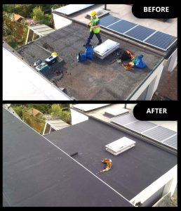 Flat Roofing Before After O Nv Roofing Services Ltd