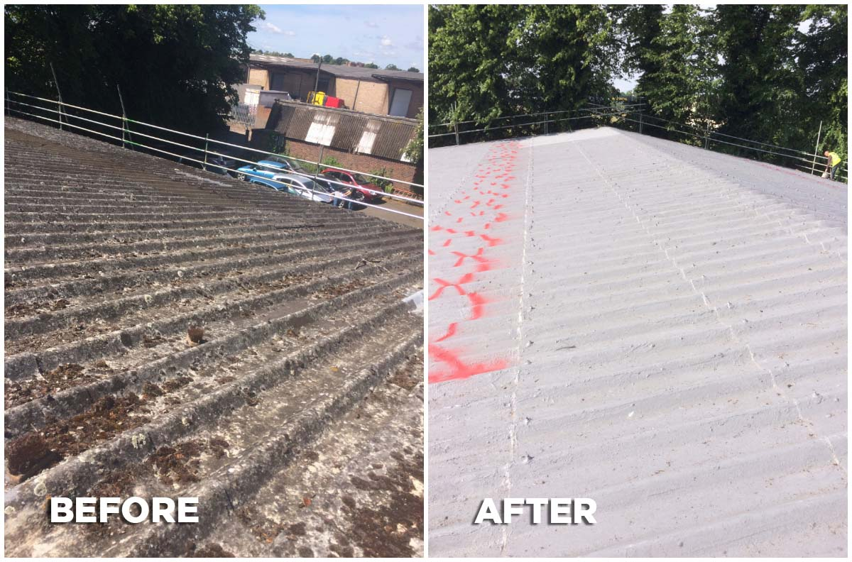 Bedford Before And After Nv Roofing Services Ltd Flat